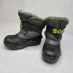 Sorel Snow Commander Boots - Army Green / Lime